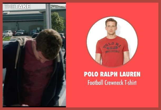 Polo Ralph Lauren red t-shirt from Chronicle seen with Alex Russell (Matt Garetty)