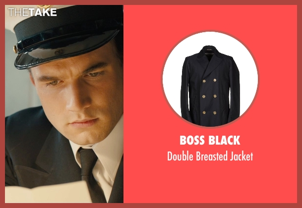 Boss Black black jacket from Unbroken seen with Alex Russell (Pete Zamperini)