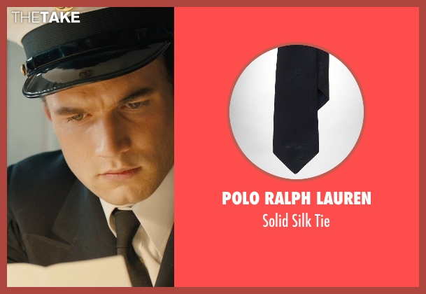 Polo Ralph Lauren black tie from Unbroken seen with Alex Russell (Pete Zamperini)