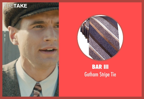 Bar III brown tie from Unbroken seen with Alex Russell (Pete Zamperini)