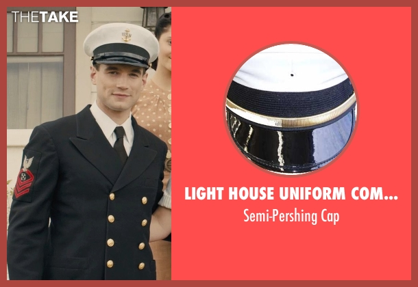 Light House Uniform Company cap from Unbroken seen with Alex Russell (Pete Zamperini)