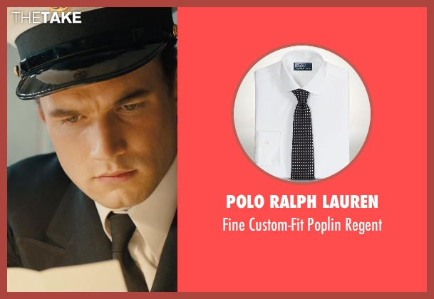 Polo Ralph Lauren white regent from Unbroken seen with Alex Russell (Pete Zamperini)