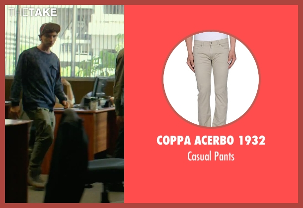 Coppa Acerbo 1932 beige pants from We Are Your Friends seen with Alex Shaffer (Squirrel)