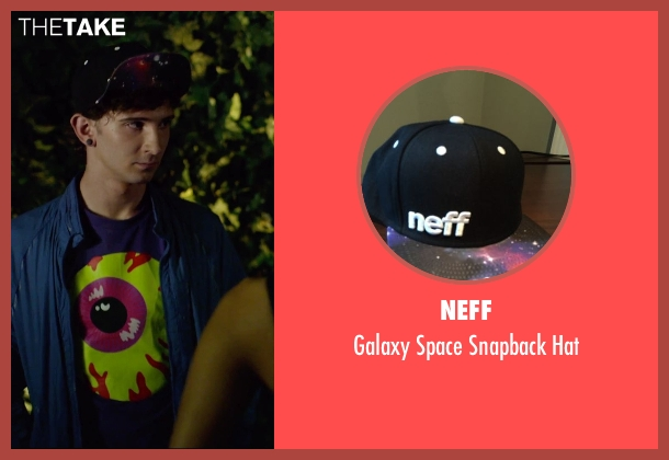 Neff black hat from We Are Your Friends seen with Alex Shaffer (Squirrel)