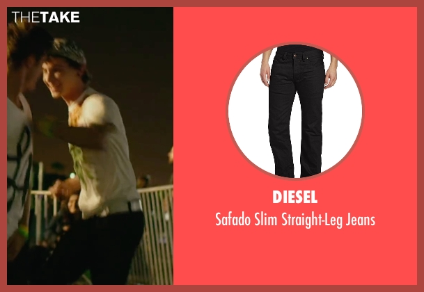 Diesel black jeans from We Are Your Friends seen with Alex Shaffer (Squirrel)