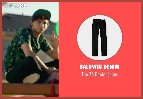 Baldwin Denim black jeans from We Are Your Friends seen with Alex Shaffer (Squirrel)