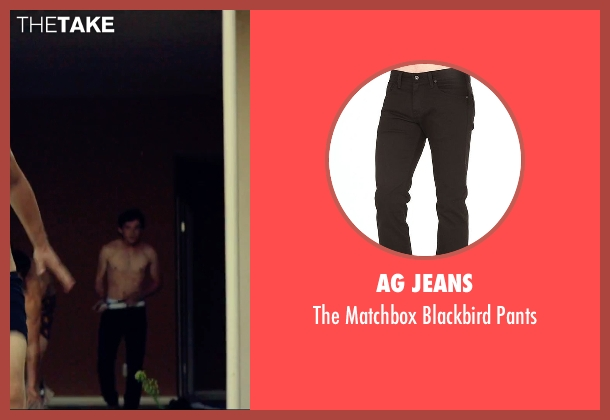 AG Jeans black pants from We Are Your Friends seen with Alex Shaffer (Squirrel)