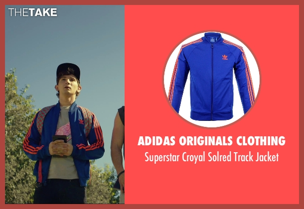 Adidas Originals Clothing blue jacket from We Are Your Friends seen with Alex Shaffer (Squirrel)