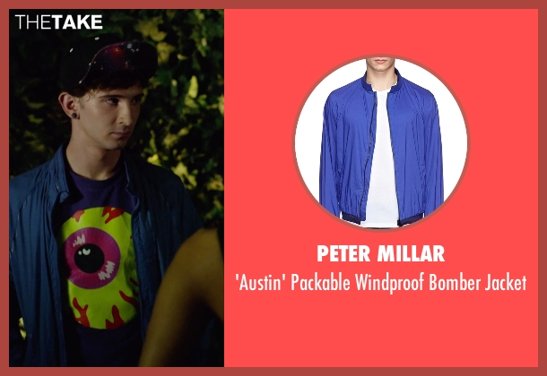 Peter Millar blue jacket from We Are Your Friends seen with Alex Shaffer (Squirrel)