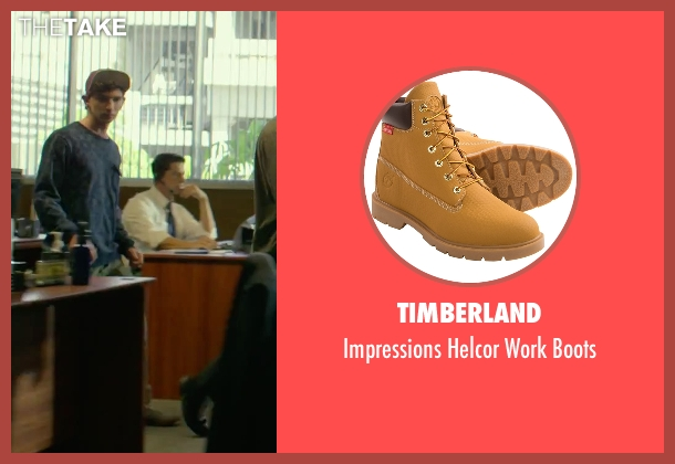 Timberland boots from We Are Your Friends seen with Alex Shaffer (Squirrel)