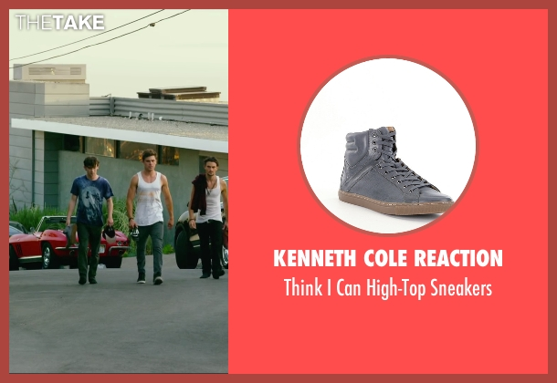Kenneth Cole Reaction gray sneakers from We Are Your Friends seen with Alex Shaffer (Squirrel)