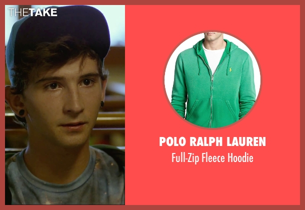 Polo Ralph Lauren green hoodie from We Are Your Friends seen with Alex Shaffer (Squirrel)