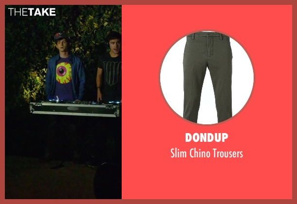 Dondup green trousers from We Are Your Friends seen with Alex Shaffer (Squirrel)