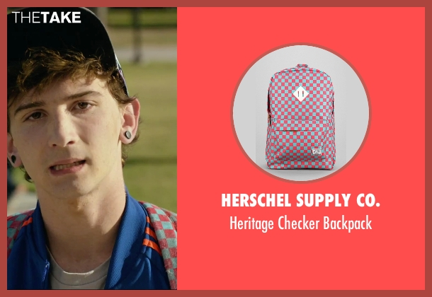 Herschel Supply Co. pink backpack from We Are Your Friends seen with Alex Shaffer (Squirrel)