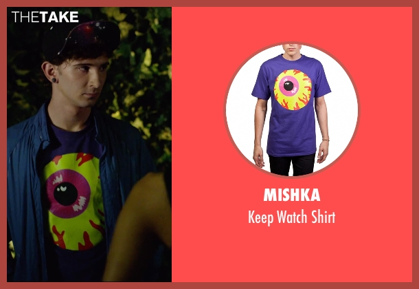 Mishka purple shirt from We Are Your Friends seen with Alex Shaffer (Squirrel)