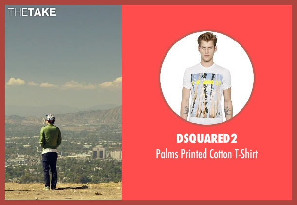 Dsquared2 white t-shirt from We Are Your Friends seen with Alex Shaffer (Squirrel)