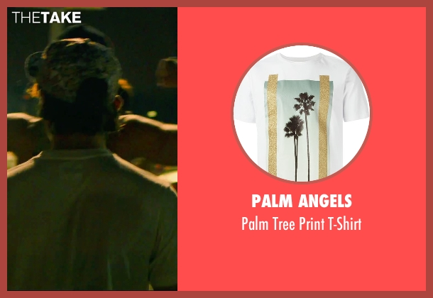 Palm Angels white t-shirt from We Are Your Friends seen with Alex Shaffer (Squirrel)
