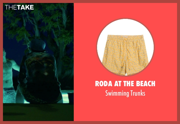 Roda At The Beach yellow trunks from We Are Your Friends seen with Alex Shaffer (Squirrel)