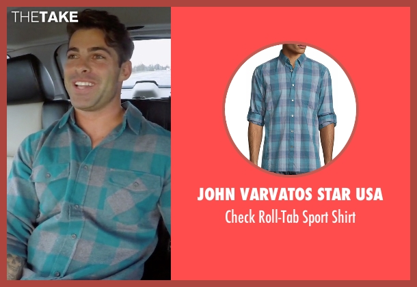 John Varvatos Star USA blue shirt from The Bachelorette seen with Alex