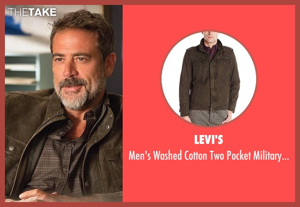 Levi's brown jacket from The Good Wife seen with Alex (Jeffrey Dean Morgan)