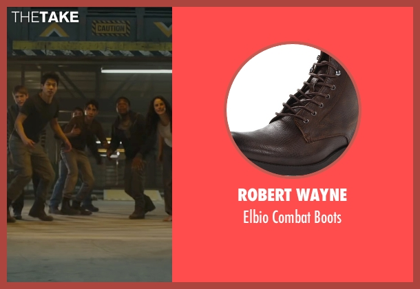 Robert Wayne brown boots from Maze Runner: The Scorch Trials seen with Alexander Flores (Winston)