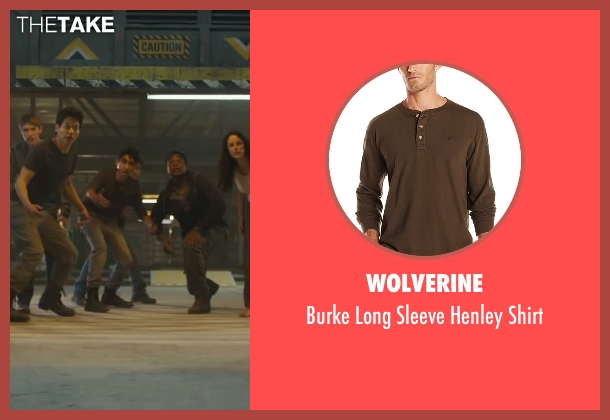 Wolverine brown shirt from Maze Runner: The Scorch Trials seen with Alexander Flores (Winston)