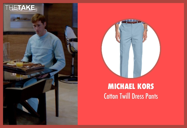 Michael Kors blue pants from The Giver seen with Alexander Skarsgård (Father)