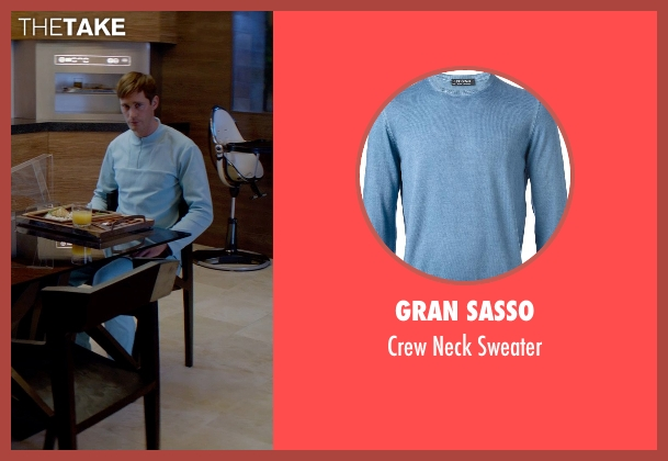 Gran Sasso blue sweater from The Giver seen with Alexander Skarsgård (Father)