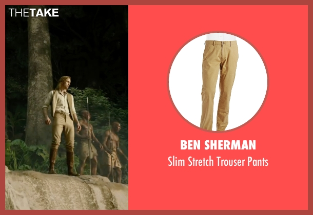 Ben Sherman beige pants from The Legend of Tarzan seen with Alexander Skarsgård (Tarzan)