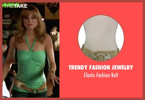 Trendy Fashion Jewelry gold belt from She's The Man seen with Alexandra Breckinridge (Monique)