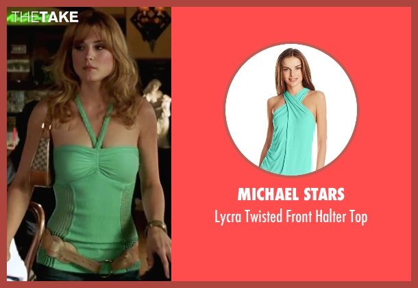 Michael Stars green top from She's The Man seen with Alexandra Breckinridge (Monique)