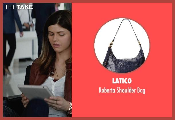 Latico blue bag from San Andreas seen with Alexandra Daddario (Blake)