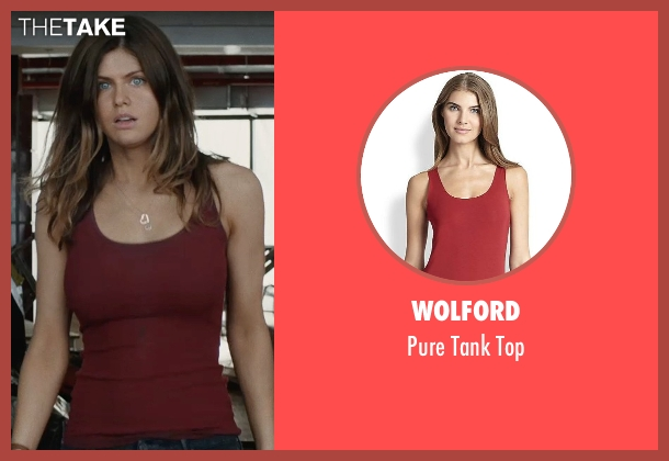 Wolford red top from San Andreas seen with Alexandra Daddario (Blake)