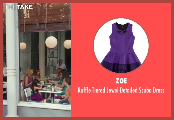Zoe purple dress from Sex and the City 2 seen with Alexandra Fong (Lily)