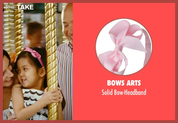 Bows Arts pink bow-headband from Sex and the City seen with Alexandra Fong (Lily)