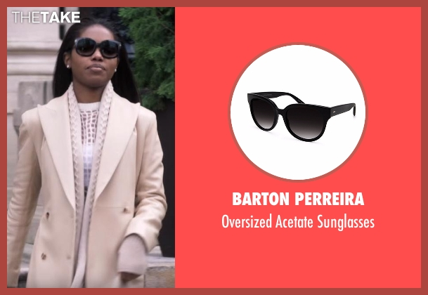 Barton Perreira black sunglasses from Star seen with Alexandra (Ryan Destiny)