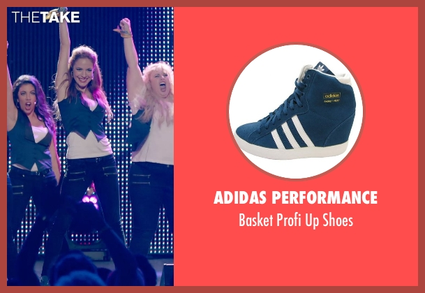 Adidas Performance blue shoes from Pitch Perfect 2 seen with No Actor (Stacie)