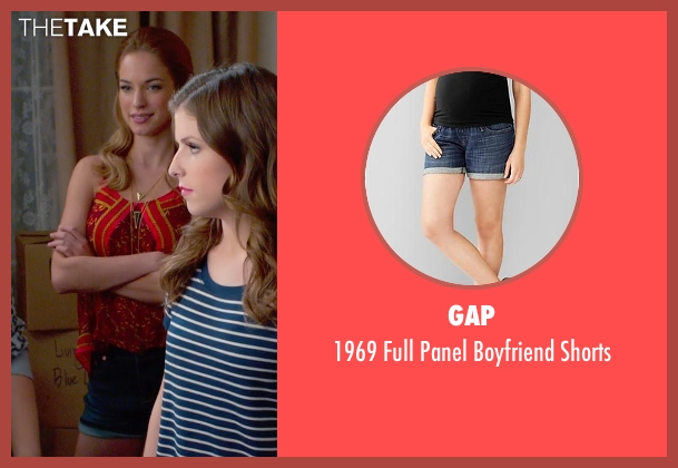 Gap blue shorts from Pitch Perfect 2 seen with No Actor (Stacie)