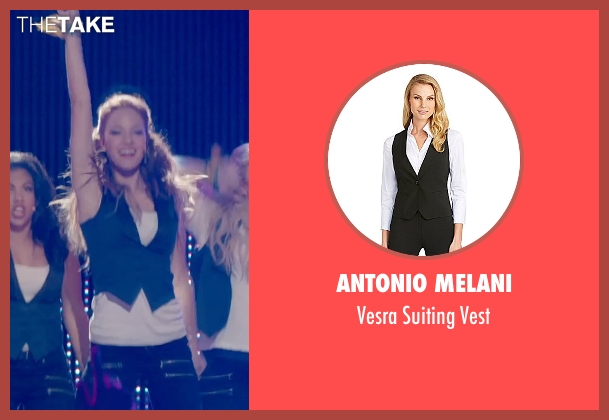 Antonio Melani blue vest from Pitch Perfect 2 seen with No Actor (Stacie)