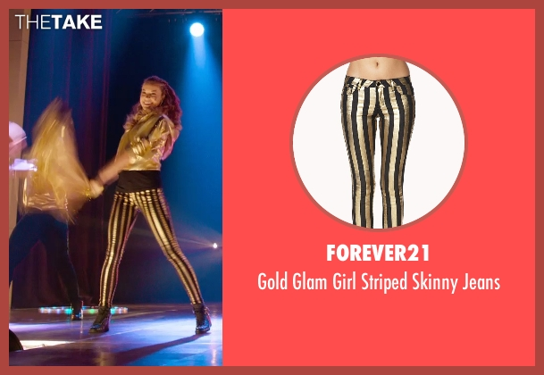 Forever21 gold jeans from Pitch Perfect 2 seen with No Actor (Stacie)