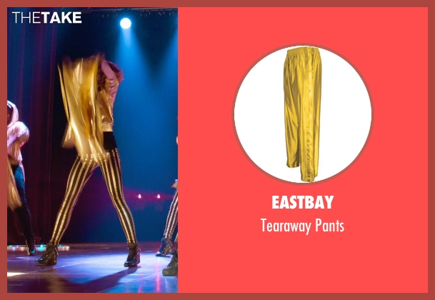 Eastbay gold pants from Pitch Perfect 2 seen with No Actor (Stacie)