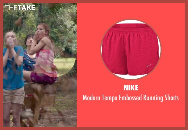 Nike pink shorts from Pitch Perfect 2 seen with No Actor (Stacie)