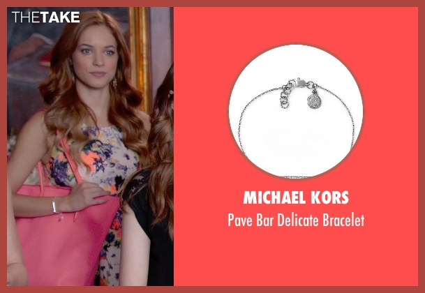 Michael Kors	 silver bracelet from Pitch Perfect 2 seen with No Actor (Stacie)