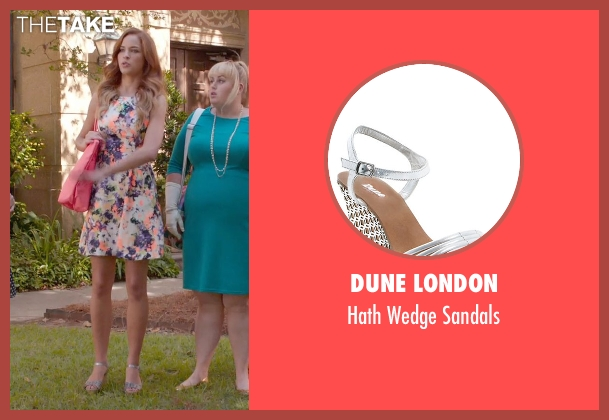 Dune London silver sandals from Pitch Perfect 2 seen with No Actor (Stacie)