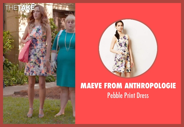 Maeve from Anthropologie white dress from Pitch Perfect 2 seen with No Actor (Stacie)