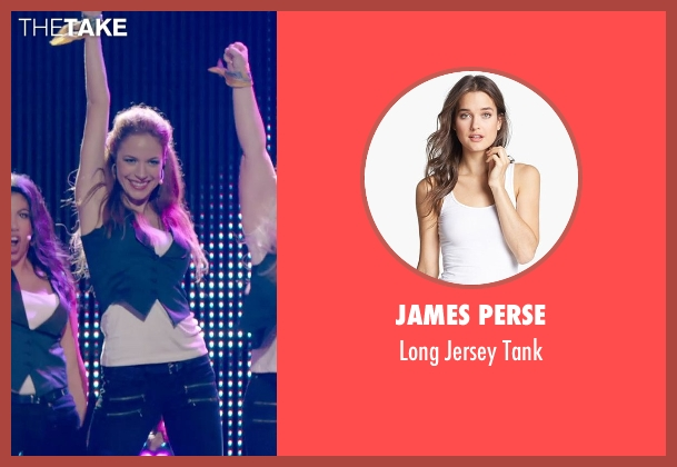 James Perse white tank from Pitch Perfect 2 seen with No Actor (Stacie)