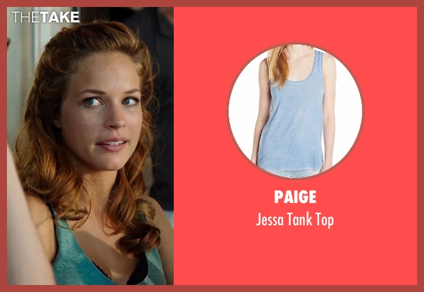 Paige blue top from Urge seen with Alexis Knapp (Joey)