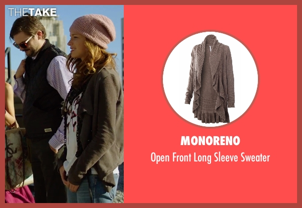 Monoreno brown sweater from Urge seen with Alexis Knapp (Joey)