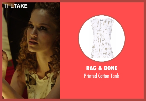 Rag & Bone white tank from Urge seen with Alexis Knapp (Joey)