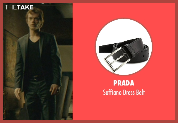 Prada black belt from John Wick seen with Alfie Allen (Iosef Tarasov)